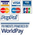 Visa Masterdard Maestro JCB PayPal